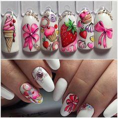 Latest Nail Art Ideas - Latest Nail Art Ideas 2019 for Girls Foil Nail Art, Nail Art Diy, Trendy Nails, Cute Nails, Nail Art Wheel, Gel Nails, Manicure, Nail Art Designs Videos, Latest Nail Art