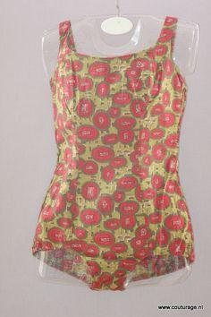 Badpak uit de jaren vijftig van katoen.(1950B005)