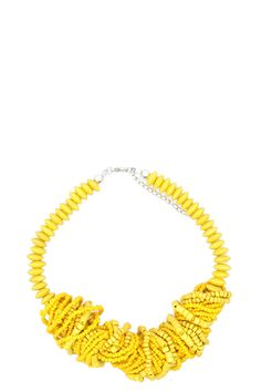ADA GATTI yellow necklace of beads