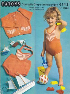 ad20c42679831 patons 6143 Baby Swimming Costume, Bathing Costumes, Baby Knitting  Patterns, Baby Patterns,