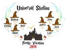 Universal Studios Harry Potter 'Family Vacation by Disney Vacations, Disney Trips, Disney Destinations, Family Vacation Shirts, Family Shirts, Universal Studios, Harry Potter Shirts, Orlando Vacation, Harry Potter Universal