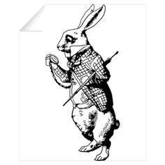 White Rabbit Wall Decal