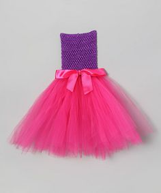 Take a look at this Purple & Fuchsia Bow Crochet Tutu Dress - Infant by All the Little Things on #zulily today!