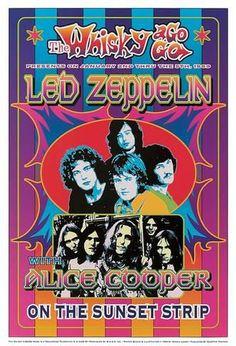 Vintage, retro, classic rock poster - Led Zeppelin and Alice Cooper. Led Zeppelin Tour, Led Zeppelin Concert, Led Zeppelin Poster, Hard Rock, Tour Posters, Band Posters, Music Posters, Alice Cooper, Vintage Concert Posters