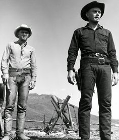 Steve McQueen and Yul Brynner
