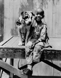 "The Little Rascals (Our Gang) Matthew ""Stymie"" Beard with Pete the Pup"