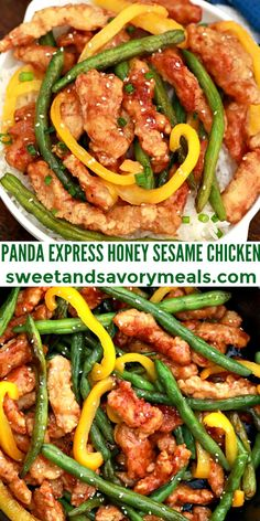 Panda Express Honey Sesame Chicken is made from scratch featuring breaded crispy chicken and vibrant vegetables, all tossed in a fantastic honey sesame sauce. #pandaexpress #chickenrecipes #chineserecipes #asianrecipes #copycat #sweetandsavorymeals