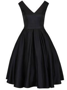 Černé šaty s výstřihem na zádech a tylovou sukní Chi Chi London f863f1bf0cb