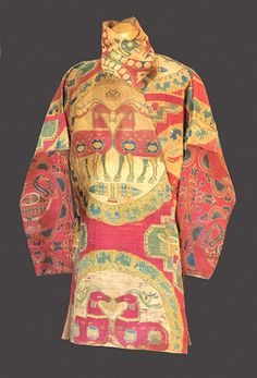 Sogdian or Sassanian 7thc silk riding coat with confronted deer This  stunning coat from the 7th 00c618706bc20