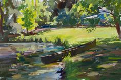 Canoe by a Pond  Marc Dalessio