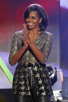 Michelle Obama in Wes Gordon | Tom + Lorenzo