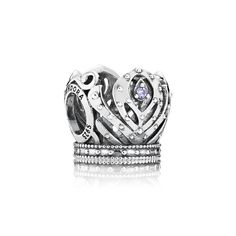 Disney, Anna's Crown Charm - PANDORA This ornate crown design is inspired by the pretty headpiece worn by Anna in the Disney movie Frozen. With its intricate design and embellishment of sparkling stones in royal purple, this charm will appeal to the inner princess in women and girls everywhere. £29.98 25% OFF http://www.pandorasale2012.com/disney-annas-crown-charm-pandora-791589acz.html