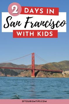 Visiting San Francisco with kids? Discover the best things to do with my 2-day (or weekend) itinerary. Top picks include a cruise on the SF Bay, a visit to our top kid's museums, and a stroll across the Golden Gate Bridge! Weekend In San Francisco, San Francisco With Kids, San Francisco Travel, Northern California Travel, Golden Gate Bridge, Best Hotels, Amazing Photography, Things To Do, Cruise