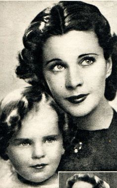 Vivien Leigh and daughter Suzanne Farington