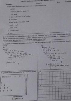 Bilgisayar Programlama -1 Vize Soruları