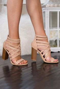 Wrapped Around Your Finger Strappy Heel Sandal (Rose)