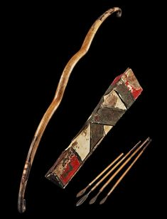 Ancient to Medieval (And Slightly Later) History — Scythian Bow, Quiver and Arrows, c. Ukraine, Eurasian Steppe, Bow Quiver, Archery Bows, Traditional Archery, 1st Century, Bow Arrows, Arm Armor, Ancient Artifacts