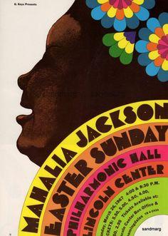 1967 Poster — Mahalia Jackson | Easter Sunday at Philharmonic Hall at Lincoln Center, NYC