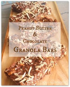 Peanut Butter and Chocolate Chewy Granola Bars that take 5 minutes to make and…