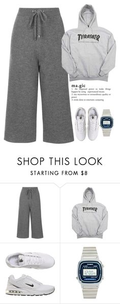 """""""NO (엔.오)"""" by bangtanfuck ❤ liked on Polyvore featuring Topshop, NIKE and Casio"""