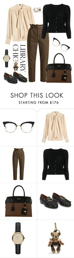 """""""library chic"""" by steffilovesyou88 ❤ liked on Polyvore featuring Thom Browne, Joseph, Isa Arfen, Theory, Prada and Burberry"""
