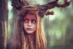 Forest creature | wood nymph | forest spirit | inspiration green | girl in the forest https://www.facebook.com/darkbeautymag/photos/a.108425552545714.21069.107179966003606/837416886313240/?type=1