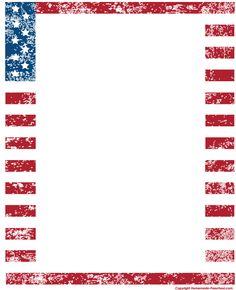 6ae608edf479 8 Best Images of Printable Patriotic Borders - American Flag Page Border