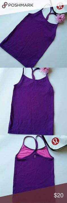 🎀🌻IVIVVA TOP🌻🎀LULULEMON FOR GIRLS In excellent condition.  Purple.  Size 6. Minimal piling on the inside. Ivivva Shirts & Tops Tank Tops