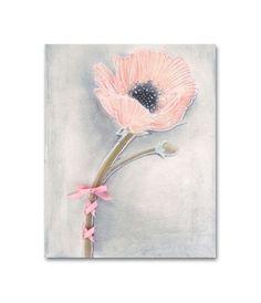 Girl Nursery Art, Pink Flower, Nursery Decor, Nursery Wall Art, Girls room Decor, Art Print 8''x10'', Children Decor di handpainting su Etsy https://www.etsy.com/it/listing/128770926/girl-nursery-art-pink-flower-nursery