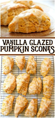 Easy Pumpkin Scones recipe made with pumpkin, cinnamon, brown sugar and butter. Soft