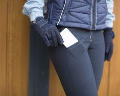 Chaney ratsastushouissa on pitävät ja kestävät grippipaikat siellä missä pitoa tarvitaan, eli polvien ja takapuollen kohdalla. Gloves, Leather, Fashion, Moda, Fashion Styles, Fashion Illustrations