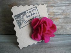 Featured this evening in our shop: Our Scrappy Pink Felt Flower Pin!