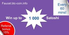 Win BTC every hour! Bitcoin Faucet, Coins, Places, Coining
