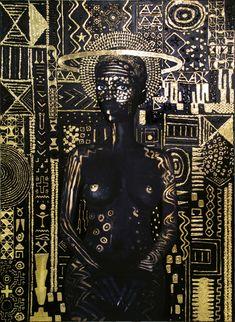 Lina Iris Viktor Gold Self-Portrait Paintings – Trendland: Trends, Art, Design & Lifestyle African American Art, African Art, Art Inspo, Art Basel Miami, Art Et Illustration, Afro Art, Black Artists, Egyptian Art, Iris