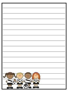 Free! Lined Paper--several Spring Themed