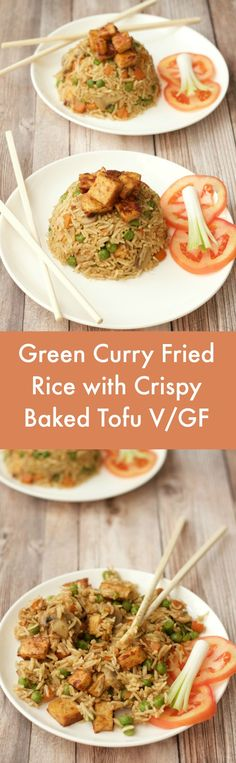 You know how you tend to have a few dinner favorites that you just recycle over and over again? This awesome vegan green curry fried rice is one of ours! Vegan | Vegan Dinner | Vegan Entree | Gluten-Free | lovingitvegan.com