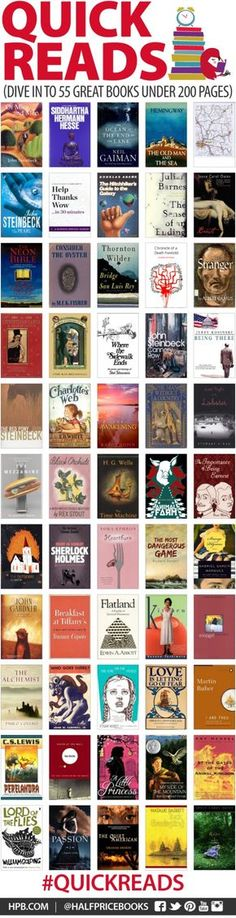 55 great books under 200 pages. 2014 reading goal maybe?