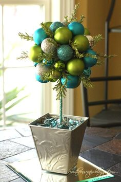 SouthernScraps Happenings: DIY ornament topiary: