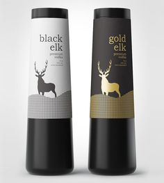 """Gold Elk"" vodka packaging"