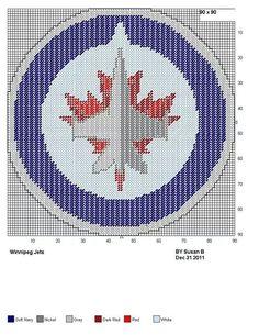 Winnipeg Jets logo Sweater Knitting Patterns, Afghan Crochet Patterns, Knitting Charts, Knitting Stitches, Cardigan Pattern, Beading Patterns Free, Loom Patterns, Cross Stitch Patterns, Quilt Patterns