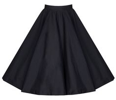 Ecollection Damen Audrey Hepburn 50s Retro vintage Bubble Skirt Rockabilly Swing Röcke (S, Black)