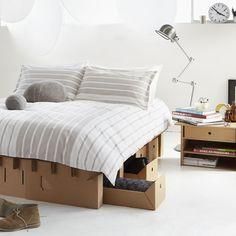 #Bed van #karton #Kartonnen meubels