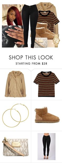 """"" by eazybreezy305 ❤ liked on Polyvore featuring Topshop, Sonia Rykiel, Melissa Odabash, UGG Australia, Michael Kors, cute, 2017 and fall2017"