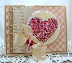 Valentine card made for Flourishes Timeless Tuesday.