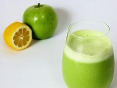 suco de maçã e limão