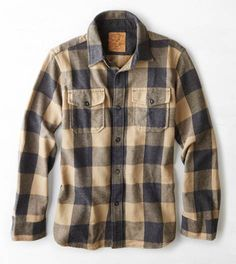 Rugged Flannel Workwear Shirt