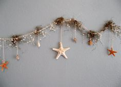 Beach garland with starfish and pearls pearl by UptownGirlzz
