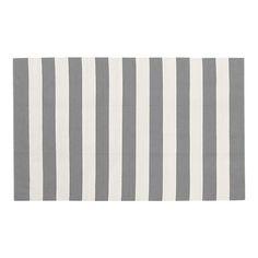 Olin Grey and White stripe 5x8 rug.... $149