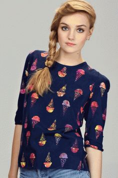 Batiked ice cream print blouse by Brighton brand Sugarhill Boutique.