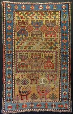 Antique Caucasian Sileh Dragon Rug Size.124x80cm